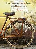 Notizbuch -Das Leben ist wie Fahrrad fahren, um die Balance zu halten musst du in Bewegung bleiben. (Albert Einstein): DIN A5, liniert