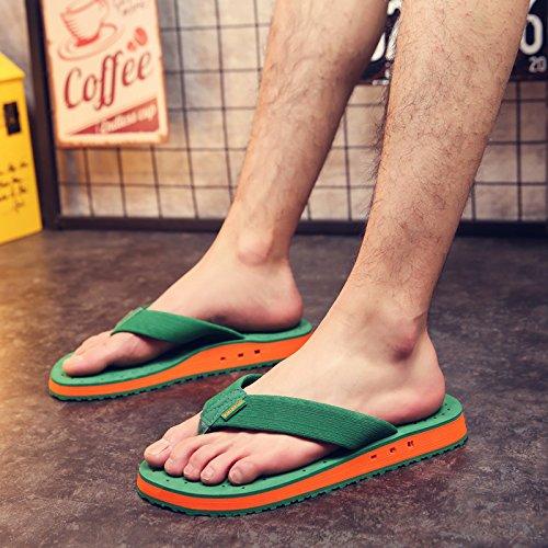 Xing Lin Sandalias De Hombre Chanclas Casuales Hombres Verano Lucha Clip De Color Pies Frescos Zapatillas Antideslizantes Transpirables Grueso Calzado De Playa green