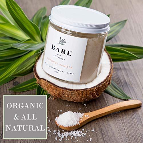 Bare Botanics Body Scrub (Coconut Vanilla) – Gentle Exfoliator & Super Moisturizer   All Natural, Non-Greasy, No…