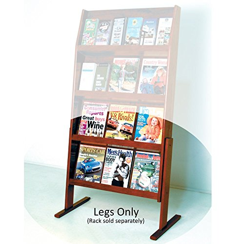 DMD Optional Floor Stand for 4H Displays, Mahogany Wood Finish, Legs Only