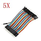 Pukido 200pcs 10cm Male To Male Jumper Cable Dupont Wire For Arduino