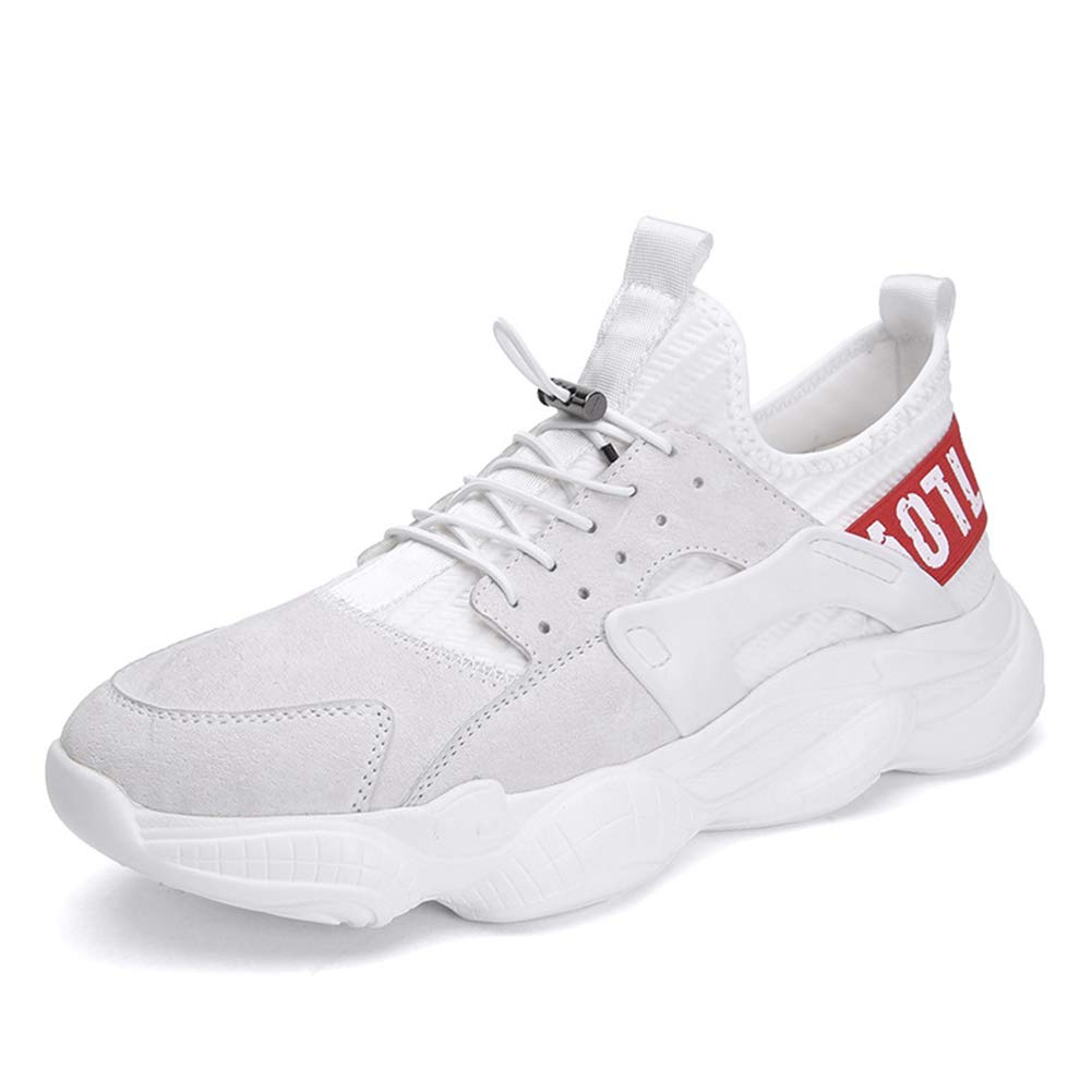 Acquista online He-yanjing Sneakers Uomo, 2019 Primavera Nuovi Uomini Sneakers in Pelle Maschile Scarpe da Corsa Casual Scarpe Moda,b,43 miglior prezzo offerta