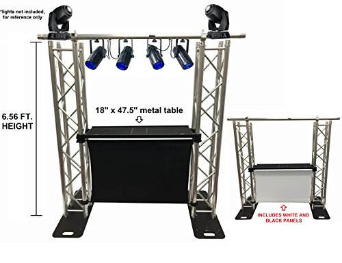 DJ Event Facade White/Black Scrims Aluminum Truss Booth 6.56