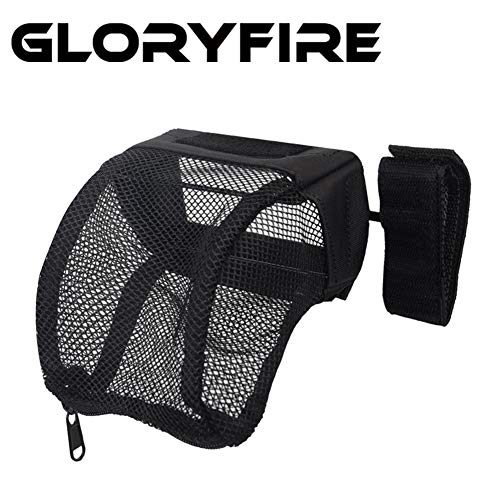 GLORYFIRE Brass Catcher Tactical Deluxe Mesh Brass Shell Catcher with Zippered Bottom for Quick Unload (Black 1)