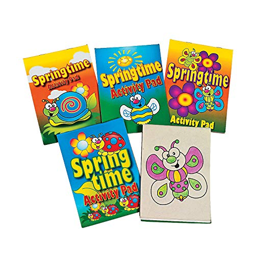 Fun Express - Springtime Activity Pad Assortment for Spring - Stationery - Activity Books - Activity Books - Spring - 12 Pieces