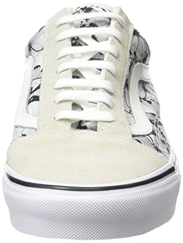 Vans Old Skool Butterfly Ankle-High Canvas Skateboarding Shoe True White / Black UnSgkZM24u
