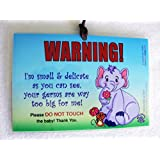 2 PACK: Don't Touch the Baby, 6 x 4 inch Laminated Car Seat Tag by Cold Snap Studio, Flower Friends - HANDMADE in the USA!