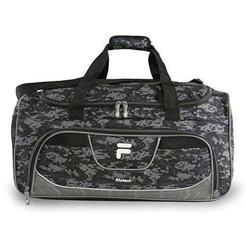 Fila Speedlight Medium Duffel Gym Sports Bag, Grey Digi Camo, One Size Review