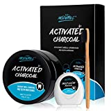 Cleansing Tea Drink - Teeth Whitening Powder Activated Charcoal Coconut -2.1oz(60g)-Teeth Whitening Kit-Bamboo Toothbrush and Teeth Floss Teeth Whitener – Tooth Powder-Oral Care Teeth Stain Removal Christmas Gift(MINT)