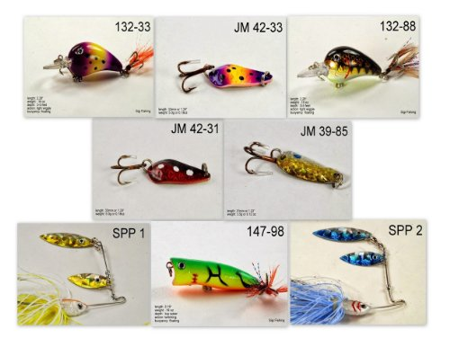 Akuna [NY] Pros' pick recommendation collection of lures for Bass, Panfish, Trout, Pike and Walleye fishing in New York(Pan Fish 8-A) (Best Pike Fishing In New York)