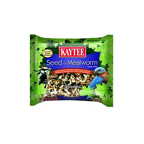 Kaytee Seed & Mealworm Treat Cake by Kaytee