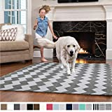 Gorilla Grip Original Faux-Chinchilla Nursery Area Rug, 5x7 Feet, Super Soft and Cozy High Pile Washable Carpet, Modern Rugs for Floor, Luxury Shag Carpets for Home Bed and Living Room, Dark Gray