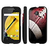 NakedShield Motorola Moto E LTE (2nd Generation, 2015) (Football) Total Hard Armor LifeStyle Phone Case