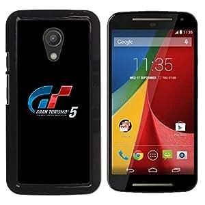 A-type Arte & diseño plástico duro Fundas Cover Cubre Hard Case Cover para Motorola G 2ND GEN II (Racing Gran Turismo Juegos)