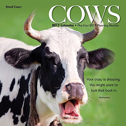 2017 Monthly Wall Calendar - Cows