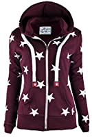Ollie Arnes Womens Warm Lightweight Long Zip Up Fleece Hoodie Sweater Jacket
