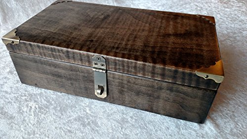 Maple Valet Box with Lid Stash Box Keepsake Box by Skunk Woodworking