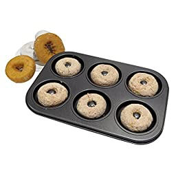 Evelots Mini 6-Cavity Donut & Bagel Baking Pan,Non-Stick Healthy Homemade,2 Pack