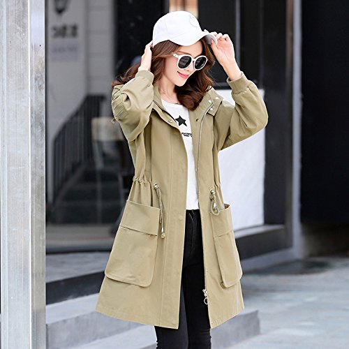 Army nbsp;Female Green Casual Jacket amp; Relaxd Female Windbreaker Long Khaki Jackets Coats SCOATWWH Women'S xYBgRwqq