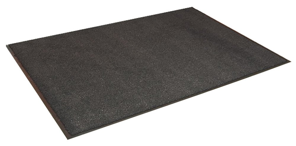 Durable Spectra-Olefin Indoor Vinyl Backed Carpet Entrance Mat, 4' x 8', Charcoal by Durable Corporation