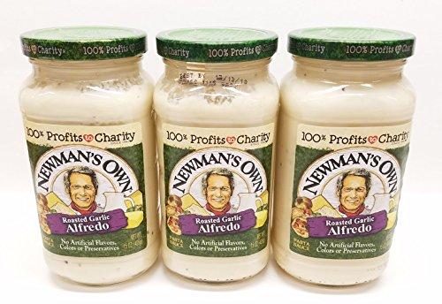 Newman's Own Roasted Garlic Alfredo Sauce 15 Oz (Pack of - Alfredo Garlic