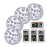 Best Bulb Lights With IR Remotes - AngleLife Submersible LED Light, 10-LED RGB Waterproof Battery Review