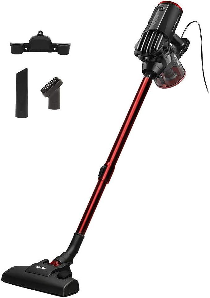 Cecotec Conga ThunderBrush 520 Aspirador vertical 360º 2 en 1. Aspirador vertical y de mano. Tecnología ciclónica. Filtro HEPA. Eficiencia energética clase A+. Bajo consumo de 600 W: Amazon.es: Hogar