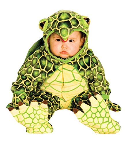 (Underwraps Costumes Baby's Turtle Costume Jumpsuit, Green/ Yellow, Small (6-12)