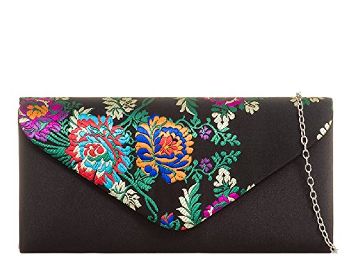 Ladies Faux Leather Clutch Bag Fold Over Evening Bag Party Handbag Purse KZ455