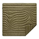 Rumpl The Original Puffy | Outdoor Camping Blanket for Traveling, Picnics, Beach Trips, Concerts | Burnt Olive/Cardiff Brown, 2-Person