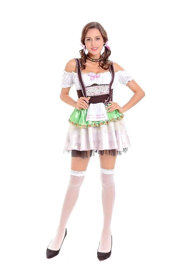 ACHICOO Halloween. Oktoberfest Mujeres sexy fuera del hombro ...