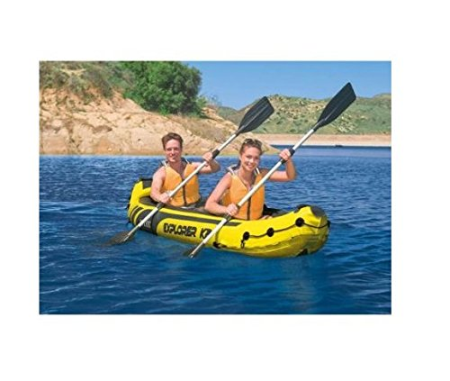 Water Sports Kayaking Deluxe 2-Person Inflatable Kayak Set, Sporting Goods