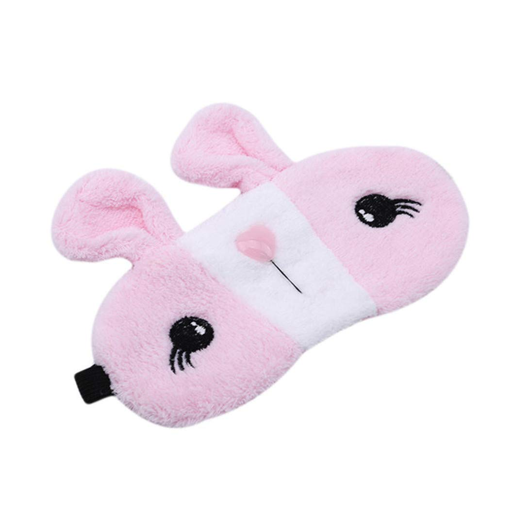 LZIYAN Sleep Eye Mask Lovely Cartoon Rabbit Eye Mask Portable Eyepatch Cute Blocks Out Light Blindfold For Home Travel,Pink by LZIYAN (Image #2)