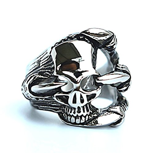 mens-stainless-steel-finger-rings-gothic-casted-skull-biker-white-cz-black-silver-24cm-size-8