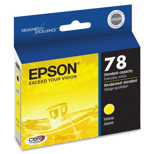 Standard Capacity Yellow Cartridge - Epson Claria Hi-Definition 78 Standard-capacity Inkjet Cartridge Yellow T078420