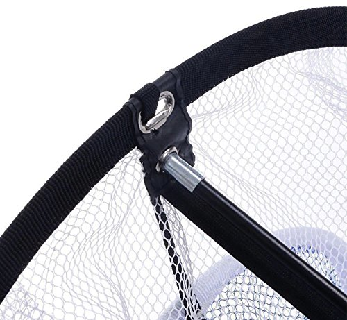 POSMA CN010A Portable Golf Training Chipping Net Bundle set with 1pc Hitting Aid Practice In/Outdoor Bag Hitting Nets + 2pcs Golf tour ball + 6pcs Golf PU ball by POSMA (Image #3)