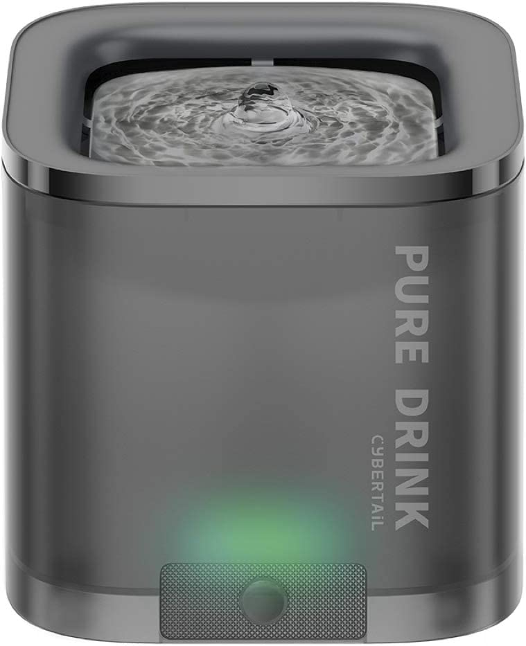PETKIT Cat Water Fountain, 63oz/1.85L Pet Water Fountain for Cats and Small Dogs, Super Quiet Hygienic Auto Power-Off Cat Water Dispenser with Filter, Dual Working Mode, Smart LED Light
