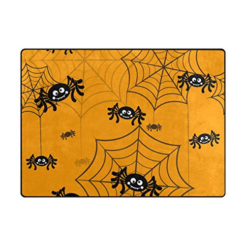 Top Carpenter Spider Halloween Symbols Area Rug Carpet 5x4 Light Weight Polyester for Living Bedroom