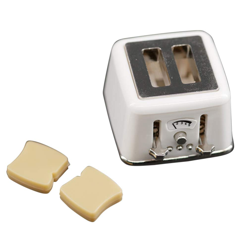 PinShang Mini Toaster Toy for 1:12 Doll House DIY Accessories