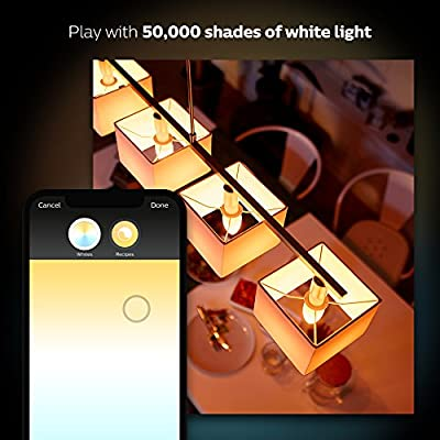 Philips 453092 Ambiance A19 2 Retail Hue White 60W Equivalent Dimmable LED Smart Bulb