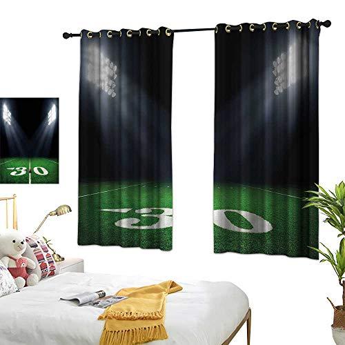 Davishouse Thermal Insulated Drapes for Kitchen/Bedroom Night American Stadium Darkening and Thermal Insulating 55