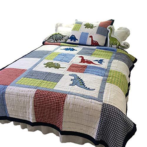 Dinosaur Patchwork Quilt Set For Boys Children Bedspreads Twin ()