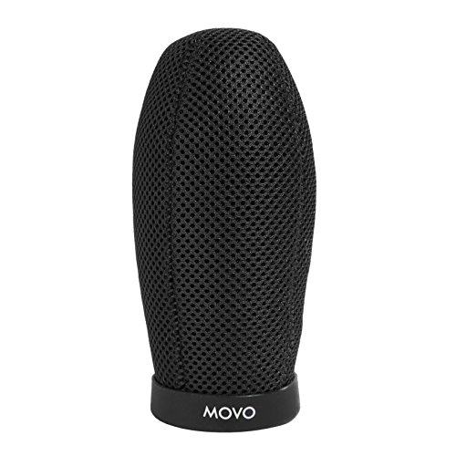 Movo WST140 Professional Premium Quality Ballistic Nylon Windscreen with Acoustic Foam Technology for Shotgun Microphones up to 12cm Long ()