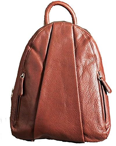 Women's Osgoode Marley Teardrop Leather Backpack Handbag,1 Size,BRANDY by Osgoode Marley