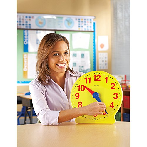 LEARNING RESOURCES BIG TIME CLOCK DEMONSTRATION 12 HR (Set of 6)
