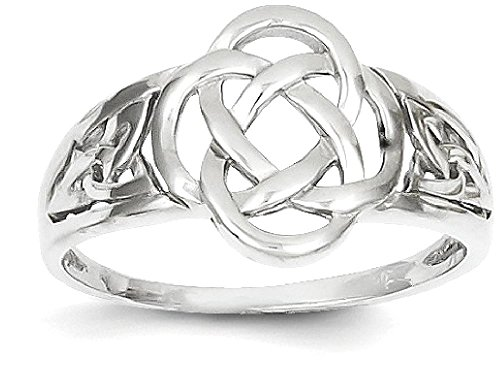 ICE CARATS 14k White Gold Ladies Irish Claddagh Celtic Knot Band Ring Size 7.00 Fine Jewelry Gift Set For Women Heart