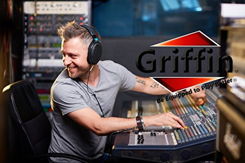 Mobile Studio Mixer Stand DJ Cart by Griffin | Rolling Standing Rack On Casters with Adjustable Height|Portable Turntable | Protect Your Digital Audio Gear and Music Equipment|Heavy Duty Construction by Griffin (Image #8)