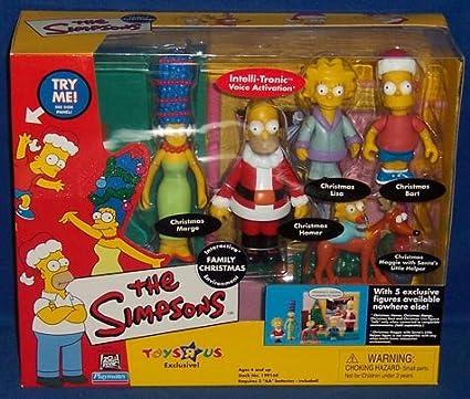 Amazon Com The Simpsons Playset Family Christmas Toys Games