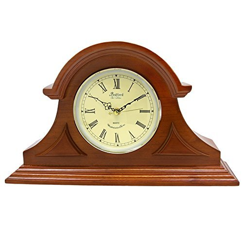 - Bedford Clock Collection Mahogany Cherry Mantel Clock with Chimes by Bedford Clock Collection