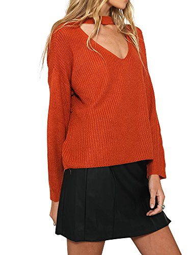 Simplee Apparel - Jerséi - para mujer Rosso